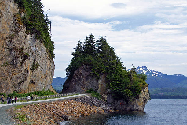 icy strait point, alaska - alaska us state stock photos and pictures