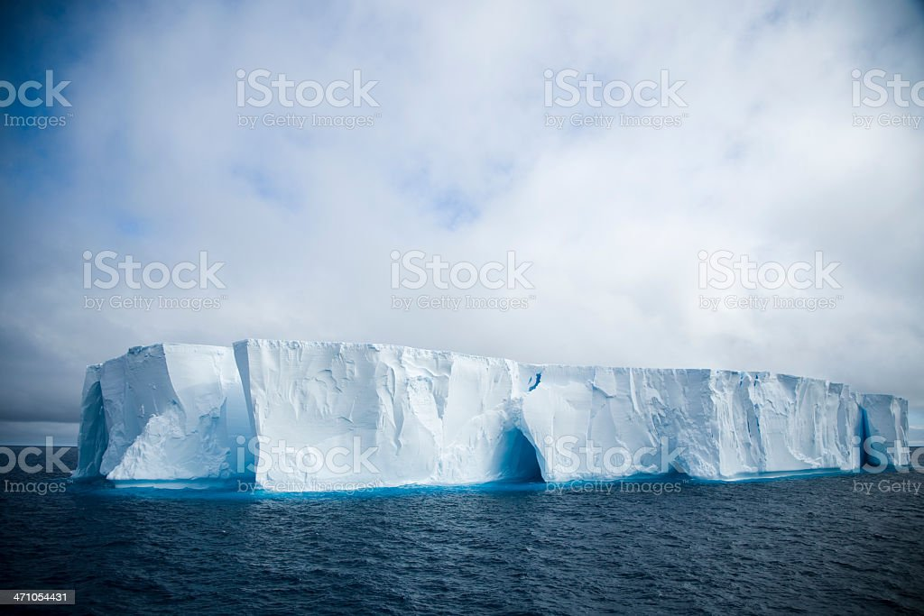 Icy Tabloid Iceberg royalty-free stock photo