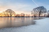 icy terrain, winter landscape, sunrise, amazing nature, silence, beautiful nature