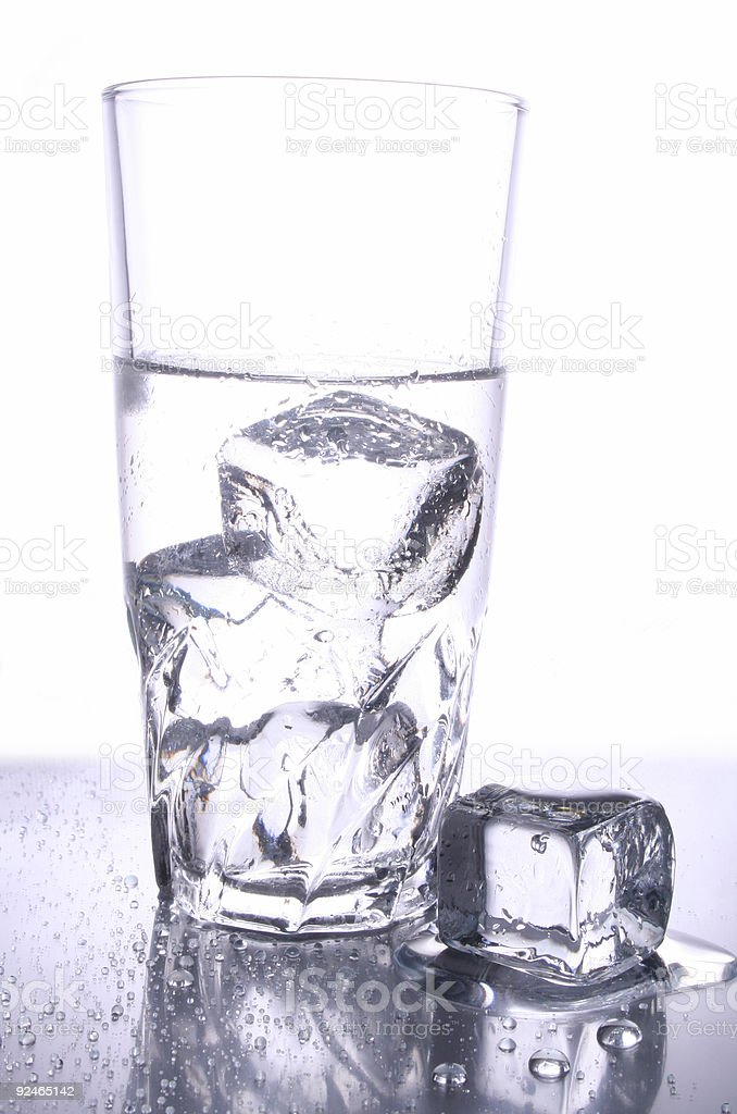 Icy water in glass royalty-free stock photo