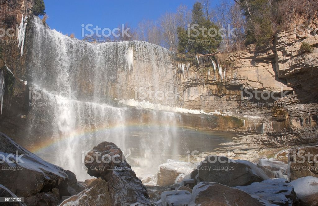 Icy Webster's Falls royalty-free stock photo