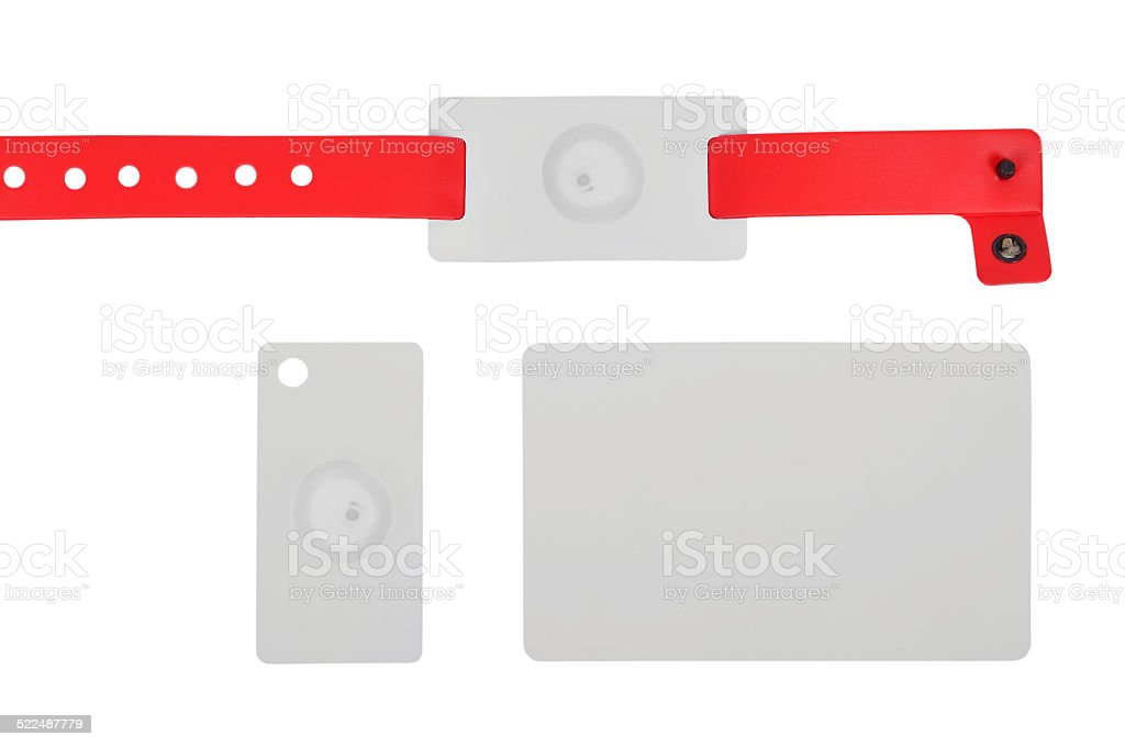 id bracelet and cards stock photo