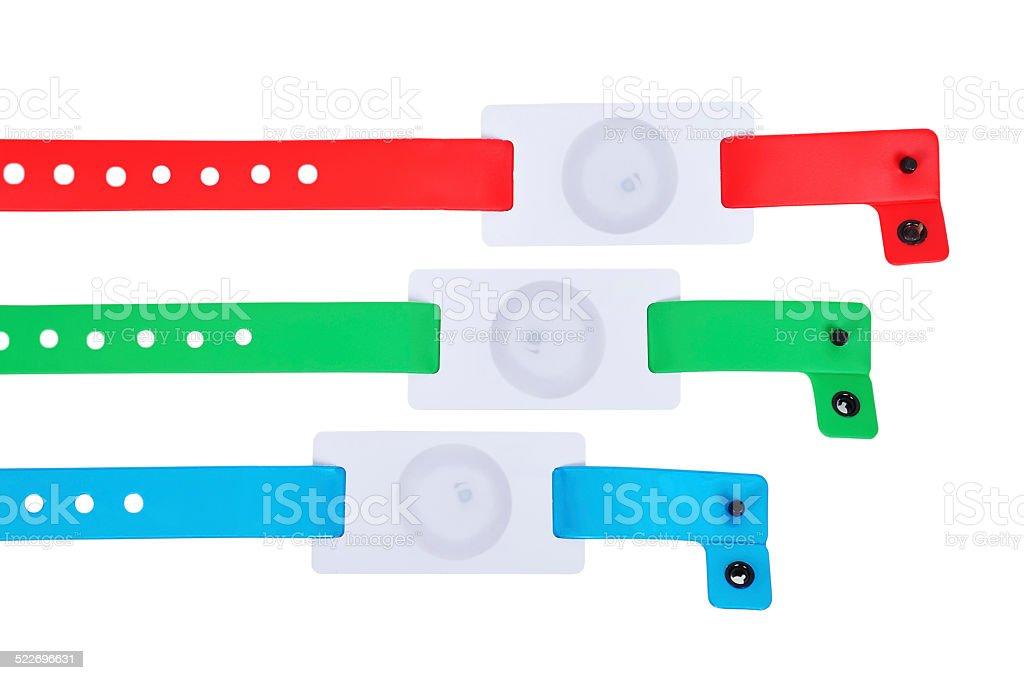 id bracelets stock photo