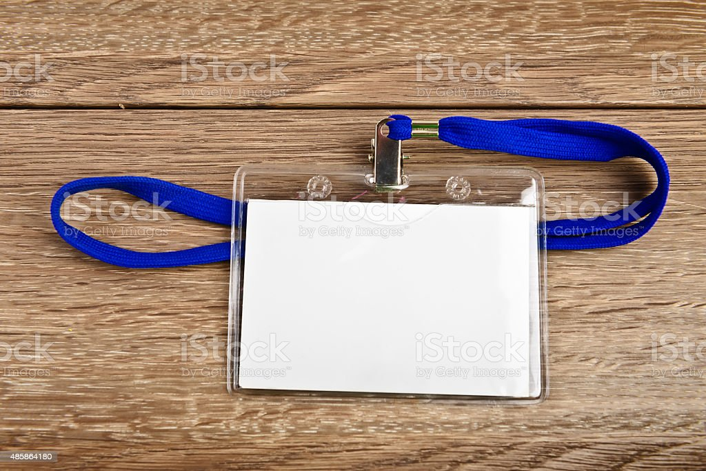 id card badge with cord stock photo