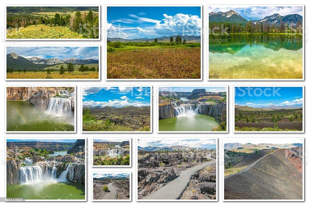 Idaho landmarks collage stock photo