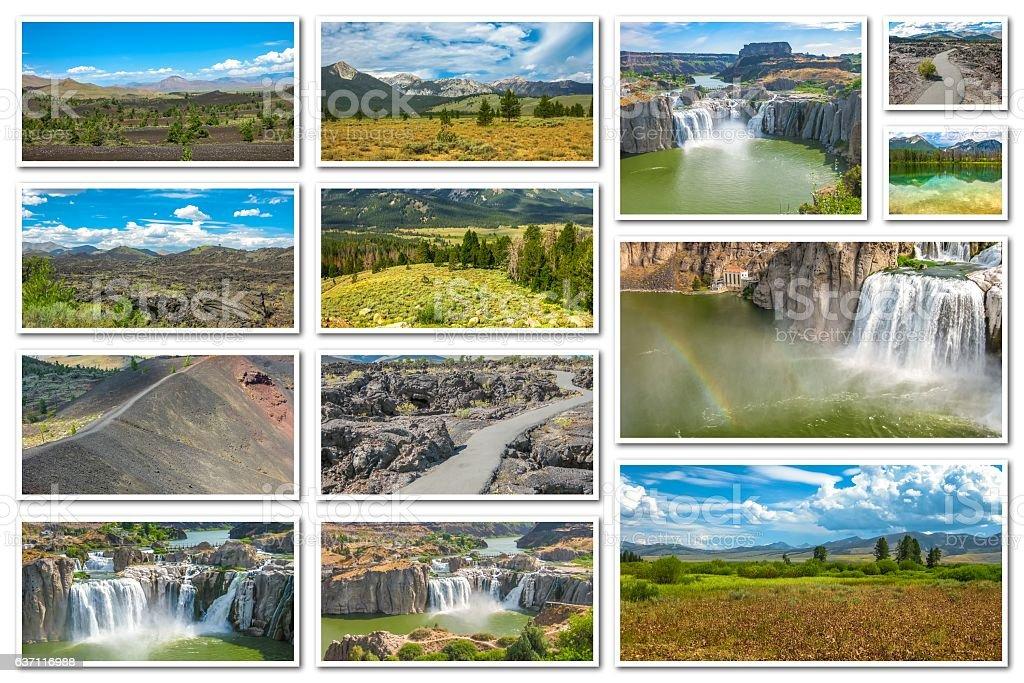 Idaho landscape collage stock photo