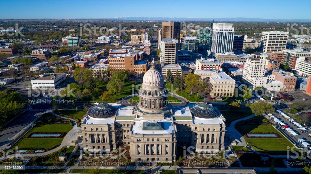 Idaho state capital and skyline of Boise royalty-free stock photo