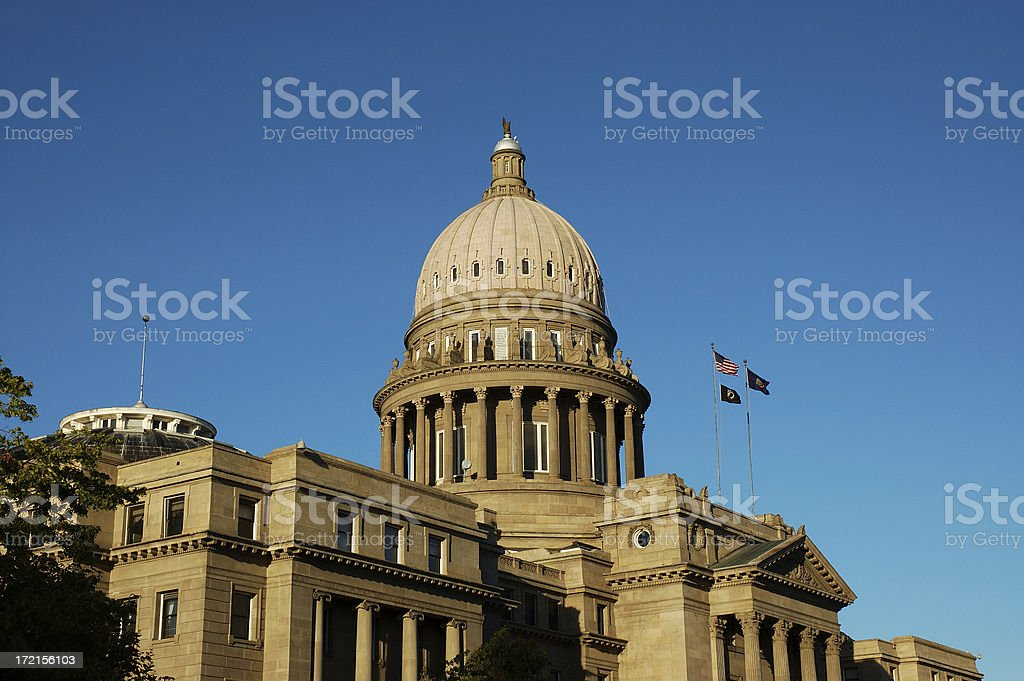 Idaho state capital house under the sunset royalty-free stock photo