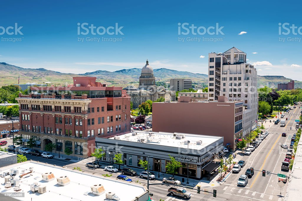 Idaho state capital in downtown Boise stock photo