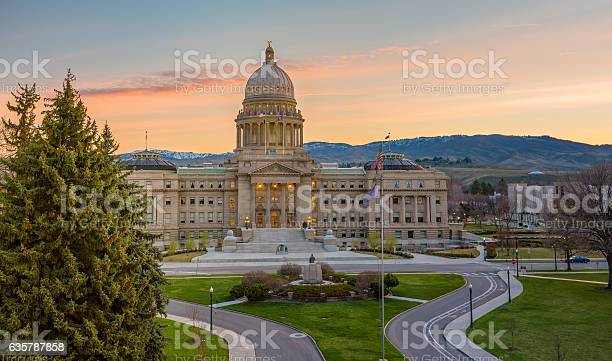 Idaho State Capital In The Early Morning Stock Photo - Download Image Now
