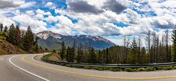 Idaho State Route 75 stock photo