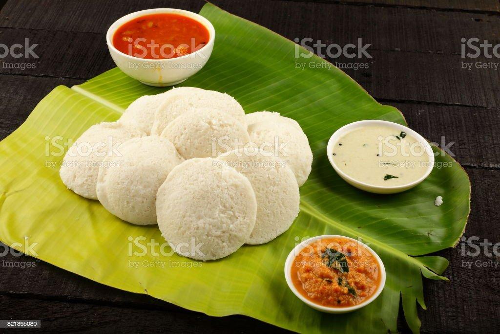 Iddli sambar stock photo