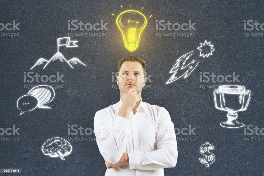 Idea and brainstorm concept - Royalty-free Adult Stock Photo
