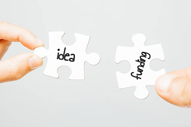 Idea and funding stock photo