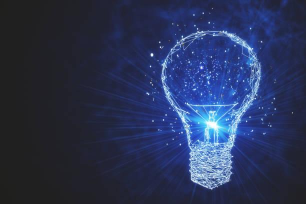 idée et futur concept - ampoule électrique photos et images de collection