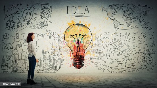 istock idea and genius concept 1043744026