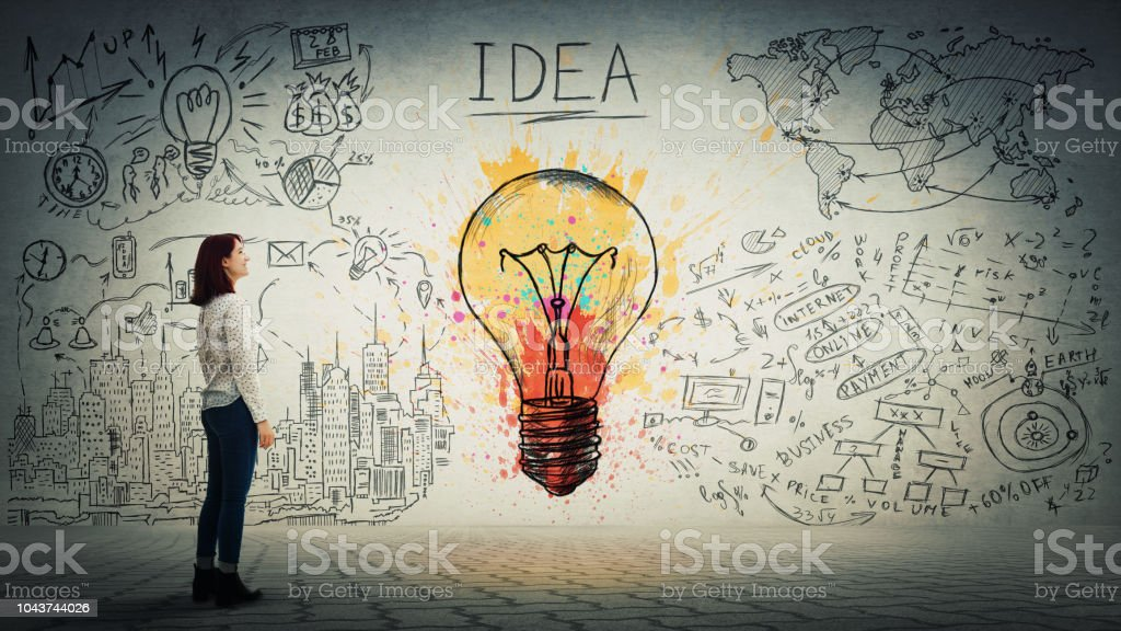 idea and genius concept stock photo