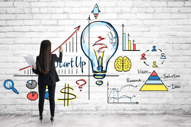 Idea and startup concept stock photo