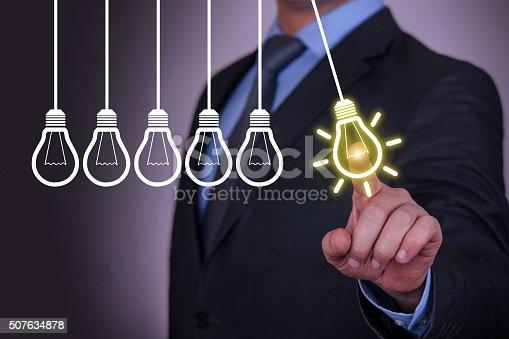 istock Idea Bulb Concept on Visual Screen 507634878