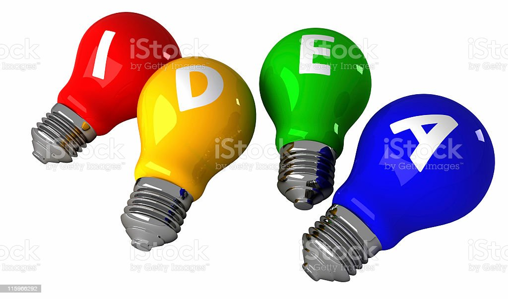 idea bulbs royalty-free stock photo