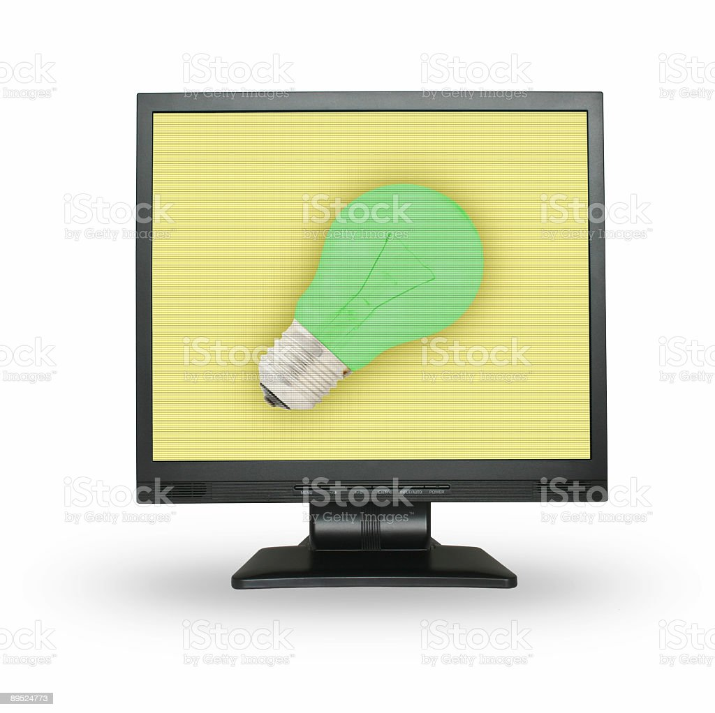 Idea concept on the LCD screen royalty-free stock photo