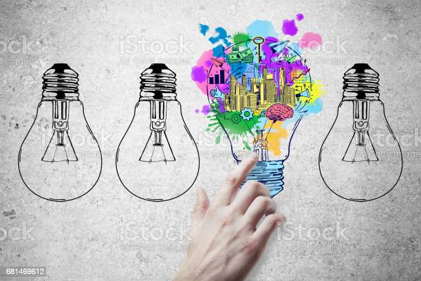 Concetto Di Idea - Fotografie stock e altre immagini di Imprenditore