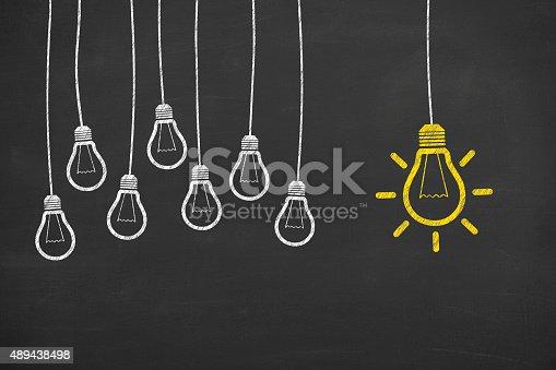 istock Idea Concept Unique on Blackboard 489438498