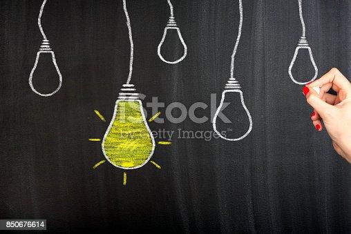 istock Idea Concept Unique on Blackboard 850676614