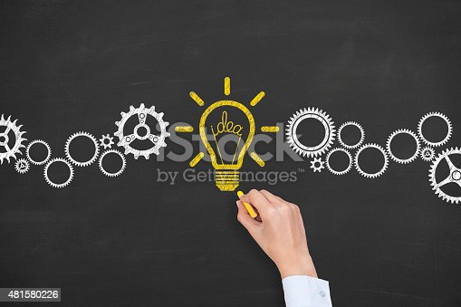 istock Idea Conceptual Drawing on Blackboard 481580226