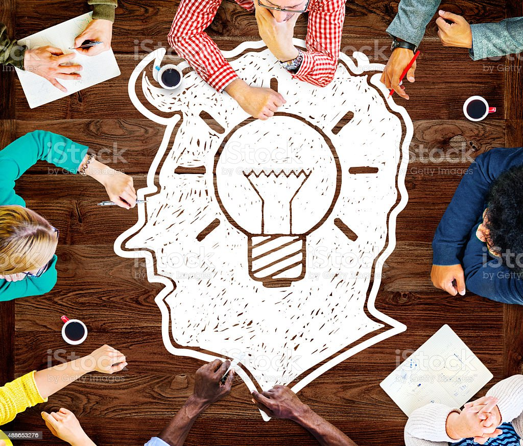 Idea Creative Creativity Imgination Innovate Thinking Concept stock photo