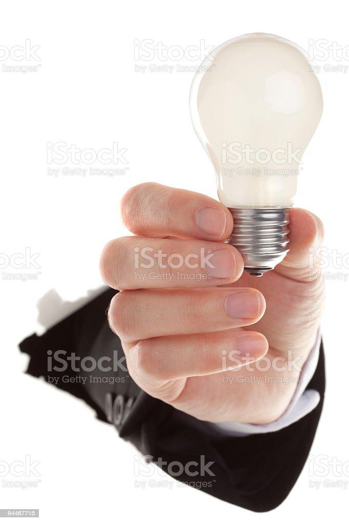 idea - electric bulb royalty-free stock photo