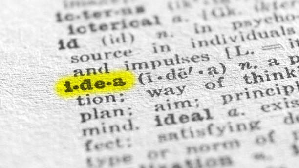 Idee englische Wort Definition Textmarker Wörterbuch – Foto