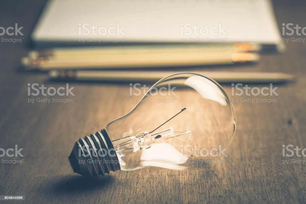 Idea For Writing stock photo