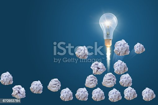istock Idea from the pile of crumpled paper. 670953784