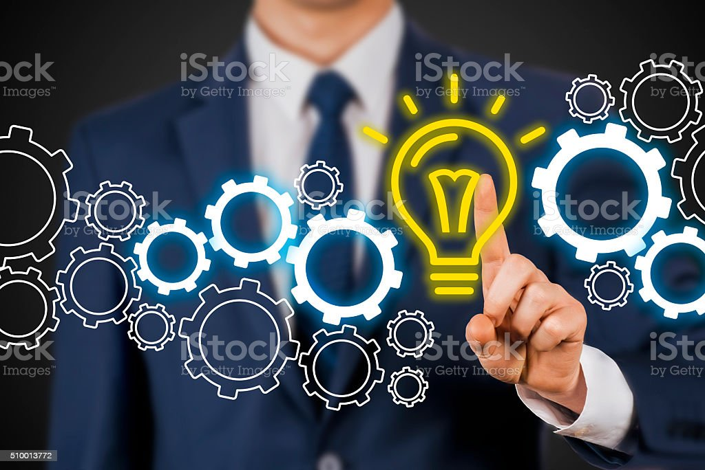 Idea Gear stock photo