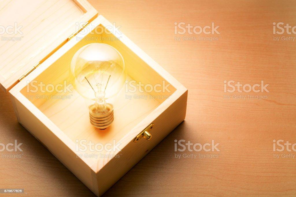 Idea in the Box stock photo