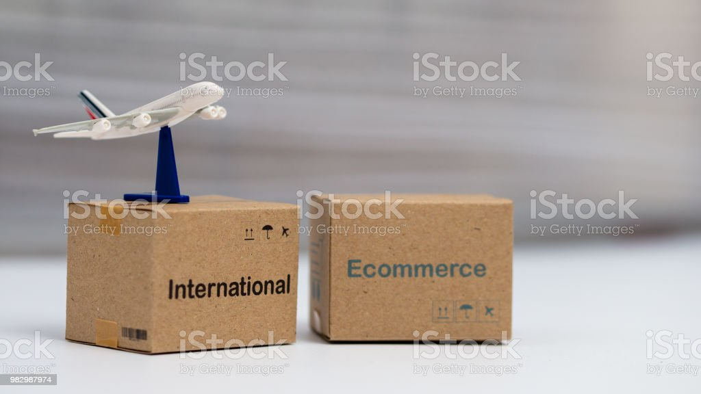 Idea International shipping and service / e-commerce concept,...