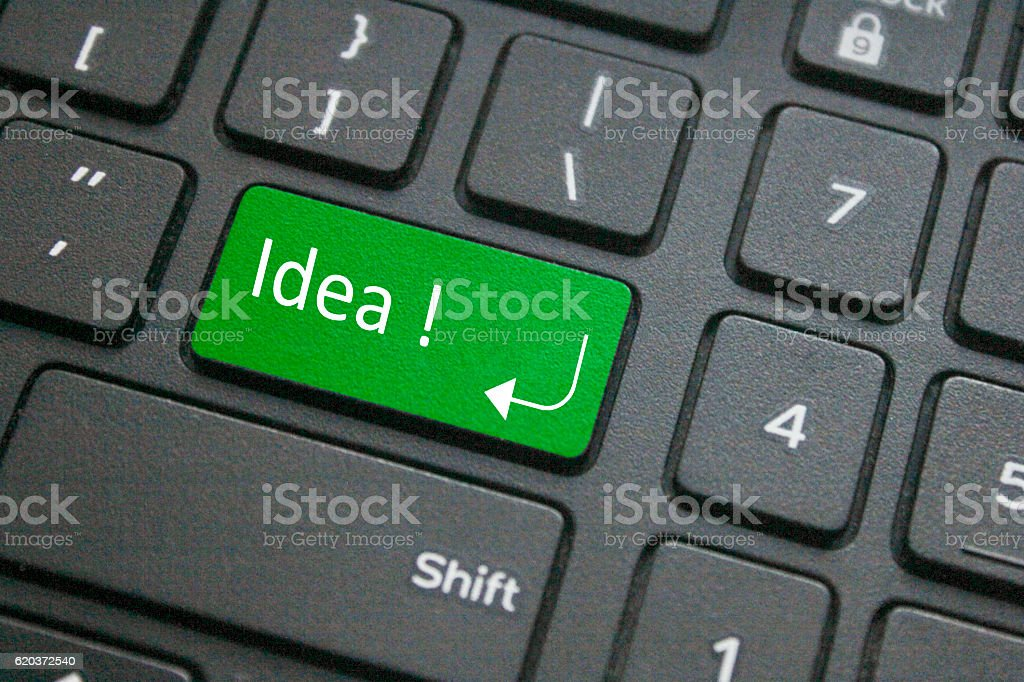 Idea key on keyboard zbiór zdjęć royalty-free