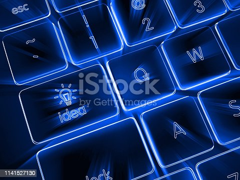 istock Idea light bulb creative think internet technology 1141527130