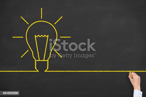 istock Idea Line on Blackboard 494993890