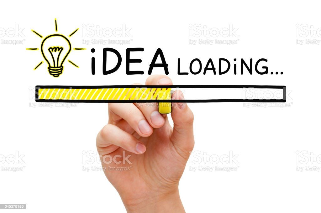 Idea Loading Bar Concept stock photo