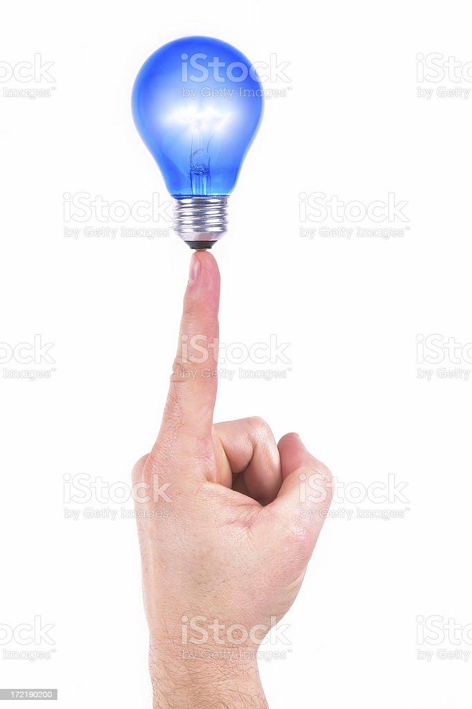 Idea on the Tip of My Finger (illuminated) royalty-free stock photo