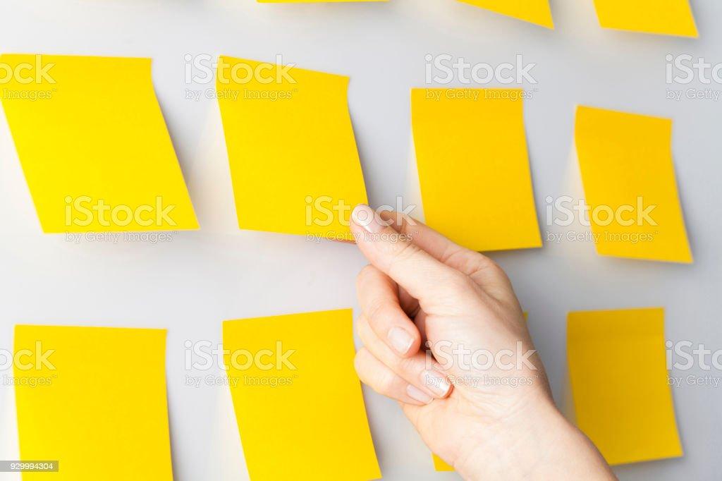 Idee-Postit-Notiz – Foto