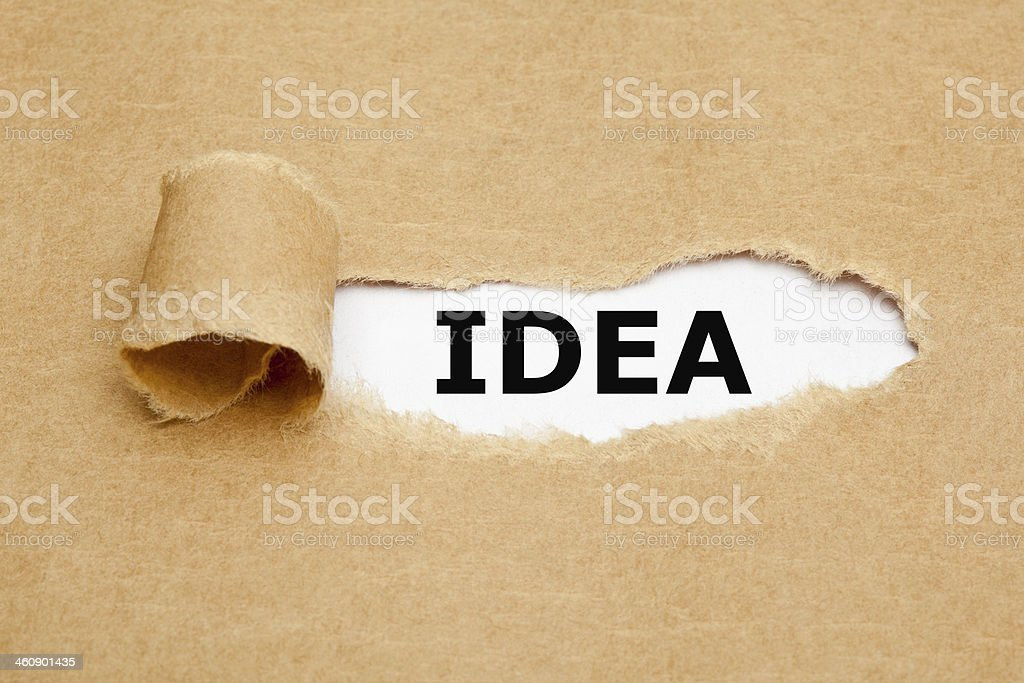Idea Torn Paper royalty-free stock photo