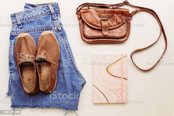 Ideal clothes for summer outfits a shirt jeans a bag shoes view from picture id1060161086?b=1&k=6&m=1060161086&s=612x612&h=typu9gseocwoxq9sd9pq7 fswmsldfcdll902hwtzew=