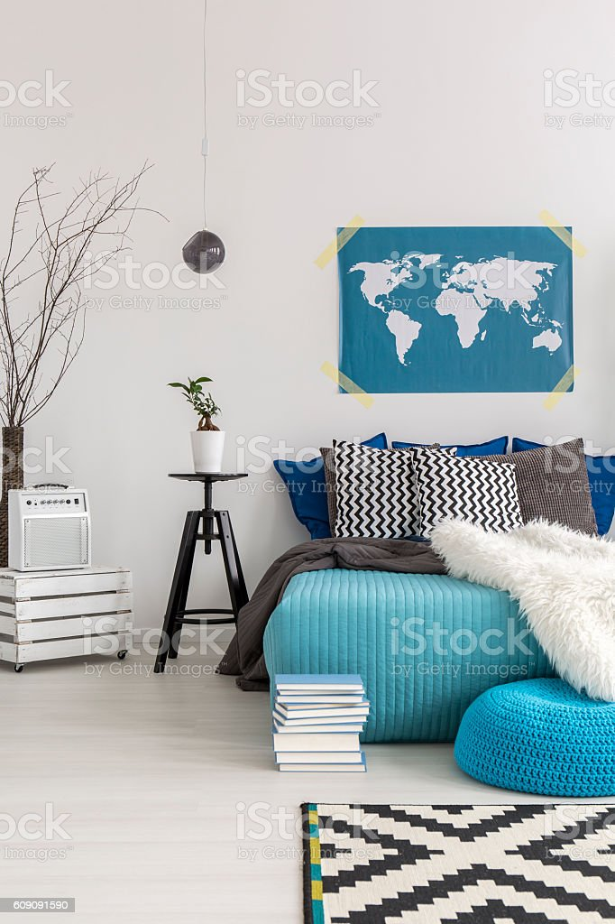 Ideal for dreaming about future distant travels stock photo