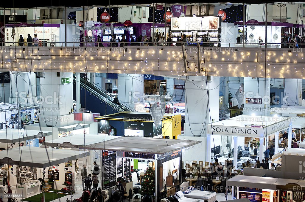 Ideal Home Show Christmas 2013 In London Stock Photo Download Image Now Istock