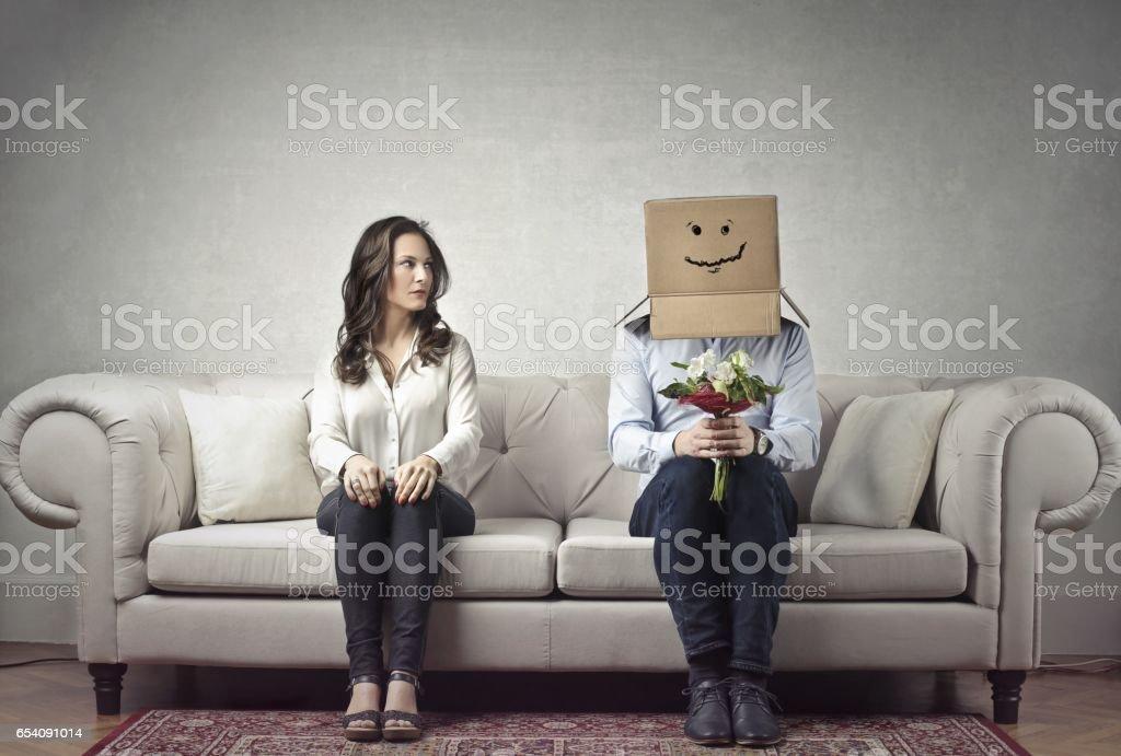 Ideal husband stock photo