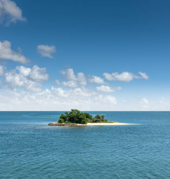 ideal island - desert island stock photos and pictures