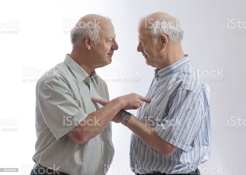 Identical Twins Disagreeing royalty-free stock photo